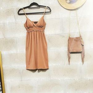Nude spaghetti strap sun dress